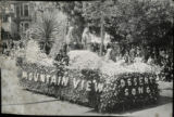 1930 Parade float, Mountain View, Desert Song