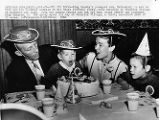 Bing Crosby and family at Frontier Village.