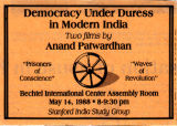 Democracy under duress in modern India.