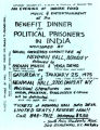 Benefit dinner for political prisoners in India.