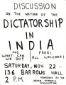 Discussion on the nature of the dictatorship in India.